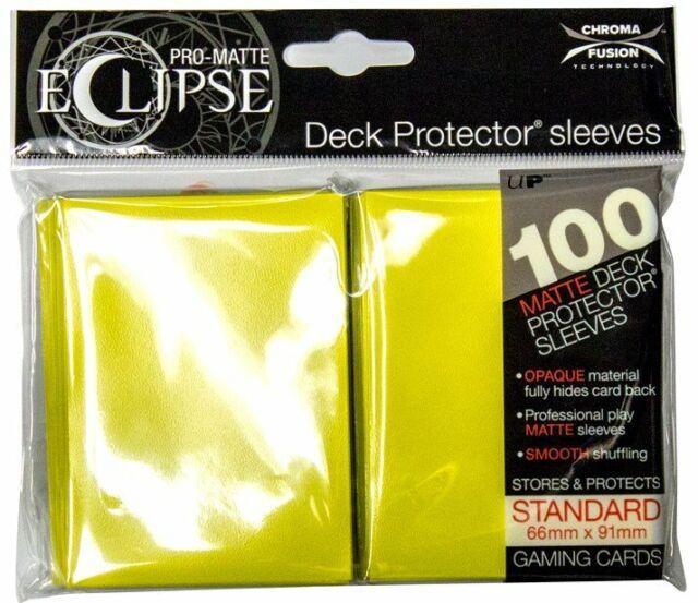 100 ULTRA PRO ECLIPSE LEMON YELLOW STANDARD PRO-MATTE DECK PROTECTOR Card Sleeve