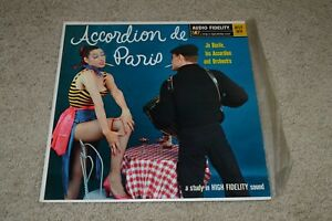 Accordion-de-Paris-Jo-Basil-and-his-Accordion-and-Orchestra-Inner-FAST-SHIPPING