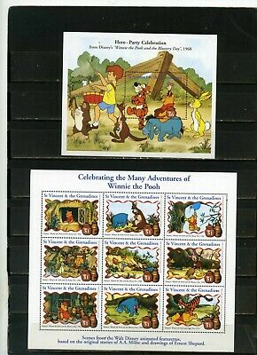Pooh/'s Monday Child Miniature Sheet from Grenada Grenadines