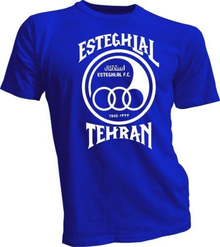 Esteghlal FC Iran Tehran Football Soccer T tee shirt Blue Size s-4xl White new