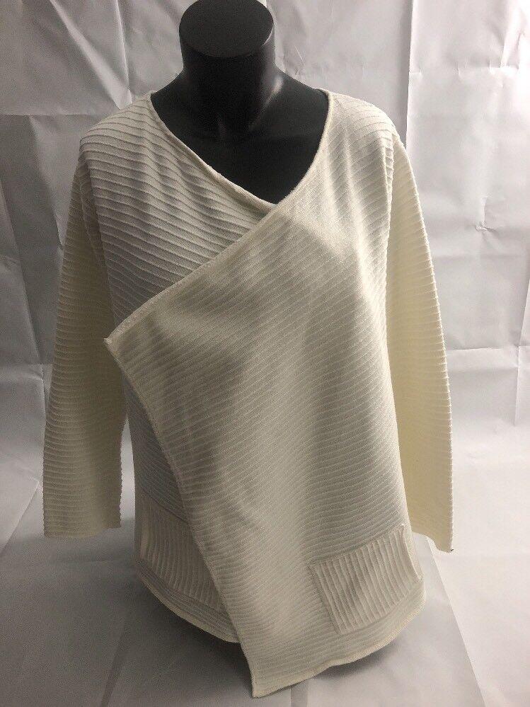Women's Margaret Winters Size M Open Front Cotton Cardigan Sweater