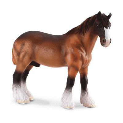 CollectA 88151 Brown Shire Draft Horse Toy Model Clydesdale Mold - NIP