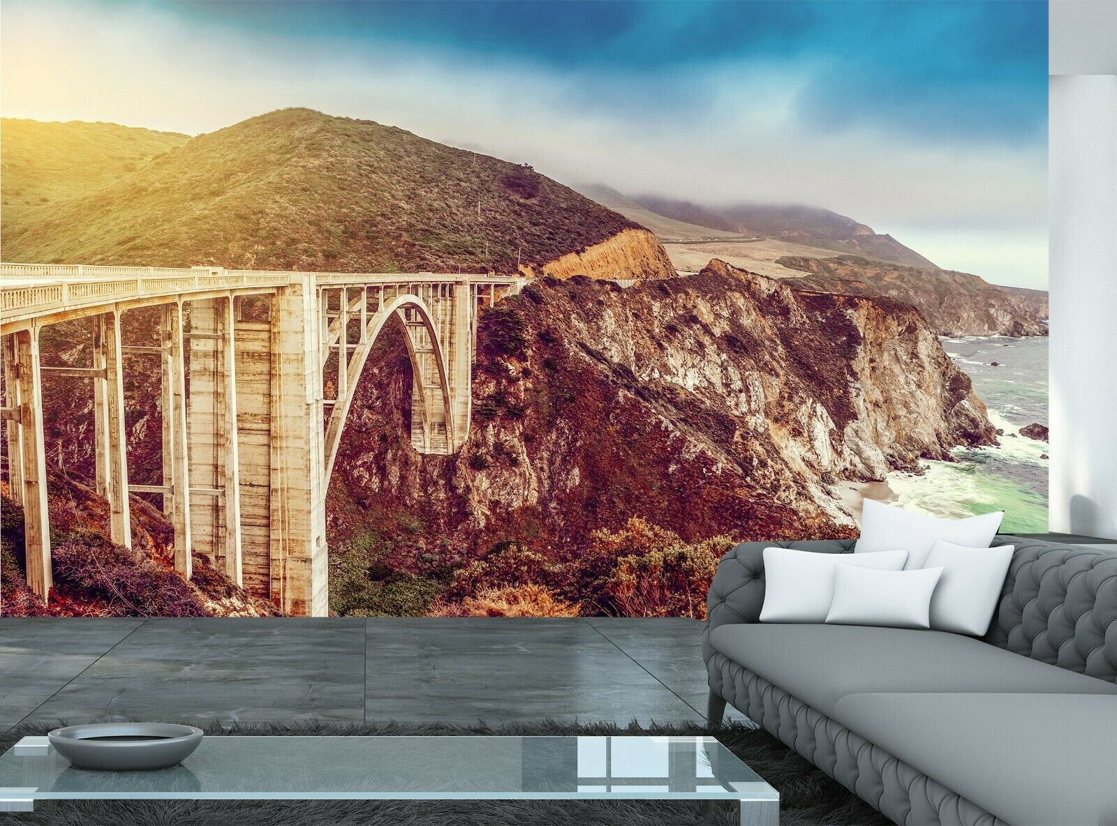 Highway,California Photo Wallpaper Wall Mural DECOR Paper Poster Free Paste