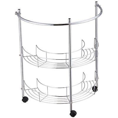 Bathroom Rack 2 Tier Under Basin Sink Storage Shelf Wheels Unit By Home Discount