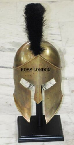 Details about  /SPARTAN Helmet Leonidas Hollywood Movie Armor Medieval With Stand HALLOWEEN