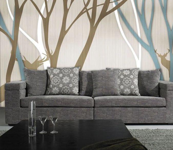3D Chauve Tronc 13 Photo Papier Peint en Autocollant Murale Plafond Chambre Art
