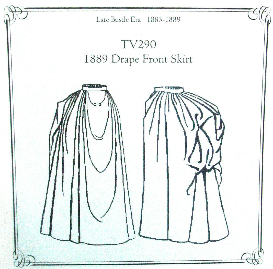 Old West 1880 S Style Draped Skirt Sewing Pattern Truly Victorian Tv290 Ebay