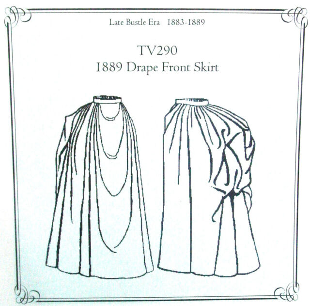 Truly Victorian TVE22 Sewing Pattern for Edwardian 1905 Circular skirt new