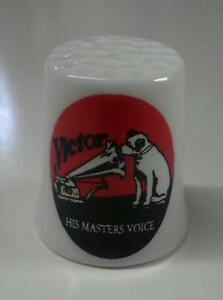 Up4Bid RCA Victor His Masters Voice Nipper Collectible Porcelain Thimble