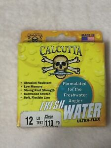 Calcutta-Fresh-Water-Ultra-Flex-Fishing-Line-12-Lb-110-yards-Clear