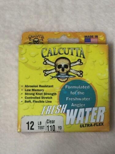 Calcutta Fresh Water Ultra Flex Fishing Line 12 Lb 110 yards Clear