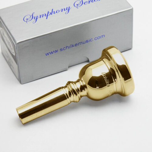 Genuine Schilke M5.2 Symphony Series 24K Gold Trombone Mouthpiece NEW