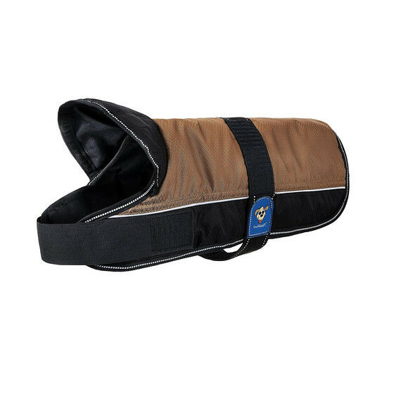 Knuffelwuff Hundemantel Funktionstextil reflektierend Braun Schwarz 25cm-70cm   | Exquisite Handwerkskunst