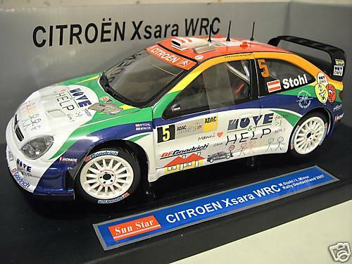 CITROËN XSARA WRC 2007 STOHL RALLYE DEUTS au 1 18 SUNSTAR 4429 voiture miniature