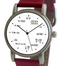"""Mathematics Dial"" Theme Watch Has Pop Quiz Equations At Each Hour Indicator"