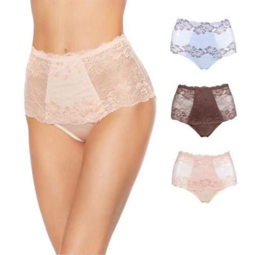 Rhonda Shear Lace Overlay Pin-Up Brief 3-pack-Soft Romance-1X-New