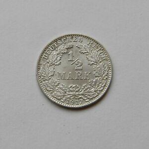 Imperio: 1/2 Marco 1917D, J. 16 ,sin Circulación, IV