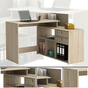 eck schreibtisch 203 sonoma eiche schreibtisch computertisch eckschreibtisch pc ebay. Black Bedroom Furniture Sets. Home Design Ideas