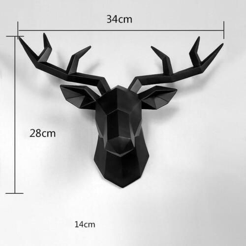 Home Decoration Accessories 3d Deer Head statue sculpture wall Decor animal Art