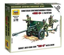 Zvezda 6253 Soviet Army Anti-Tank Gun ZIS-3 Crew Plastic Model Kit 1/72 Scale