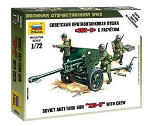Zvezda-6253-Soviet-Army-Anti-Tank-Gun-ZIS-3-Crew-Plastic-Model-Kit-1-72-Scale