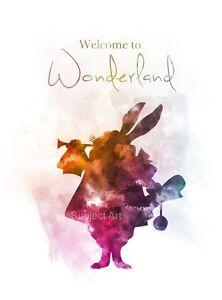 ART-PRINT-Alice-in-Wonderland-Quote-illustration-Welcome-to-Wonderland-Wall-Art