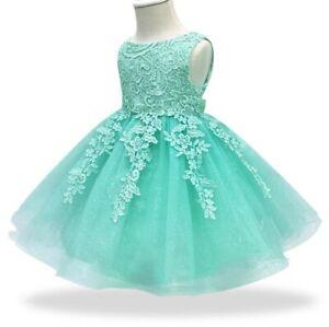 Vestiti Cerimonia Color Tiffany.Abito Battesimo Cerimonia Matrimonio Bambina Neonata Festa Baby