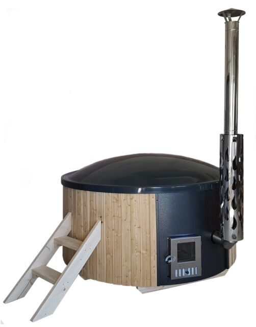 Badezuber Badetonne Badebottich Badefass Hot Tub integriertem Ofen 4203