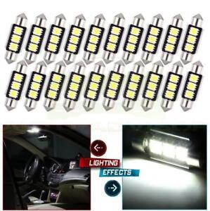 20x-36mm-1-50-034-CANBUS-Error-Free-3-LED-5050-SMD-6418-C5W-Festoon-Dome-Light-Bulb