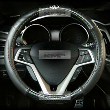 370mm Real Carbon Steering Wheel Cover Black for HYUNDAI 2013-2017 Genesis Coupe