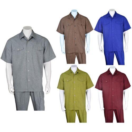 Men/'s 2-piece Spring//Summer Casual Shirt Set //Walking Suit M2961