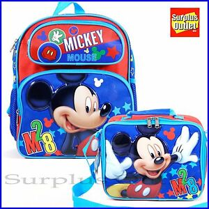 Image Is Loading Disney Mickey Mouse 12 039 School Backpack Lunch