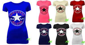 A56-neuf-femme-femme-du-logo-imprime-CONVERSE-imprime-t-shirt-t-shirt-top-gilet-taille