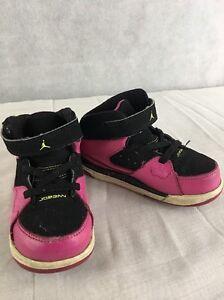 605153d9d79 Jordans Toddler Girls Size 8 Pink And Black Number 23 Flight