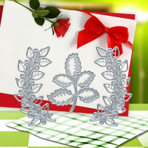 3pcs Tree Leaves Metal Cutting Dies for DIY Scrapbook Album Embossing Card Craft