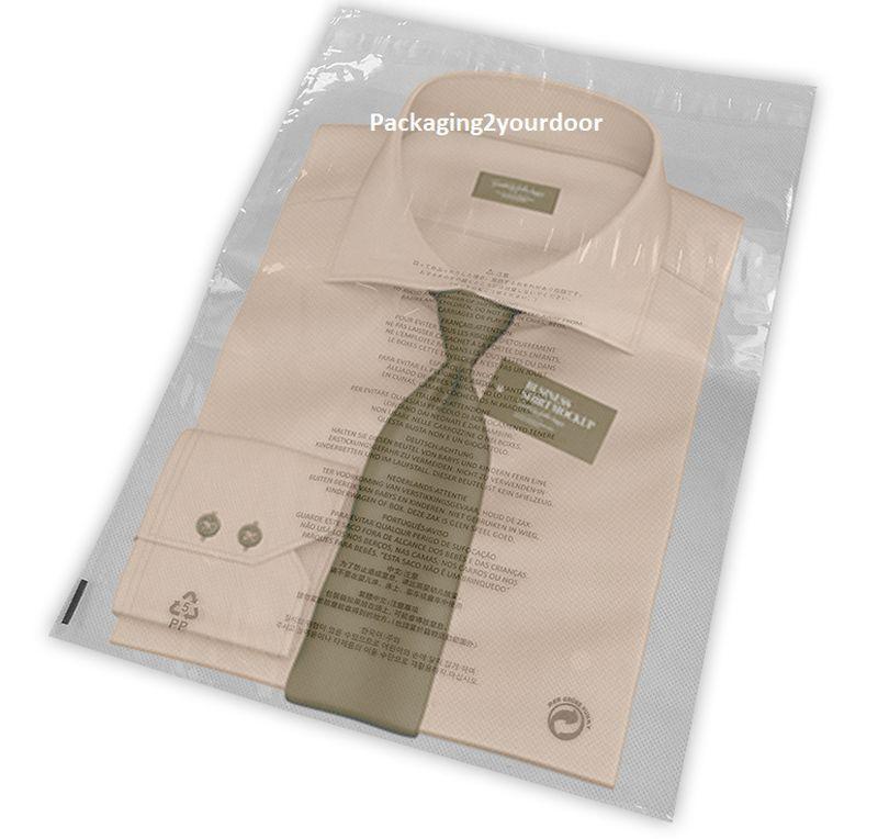 Clear T-Shirt Garment Bags 11 Languages 18 x 24  460 x 610mm Choose Qty