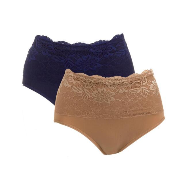 4b0e762c40442  39.90 Rhonda Shear 2-pack Seamless Lace Overlay Brief Set 459756J LAST ONE   25