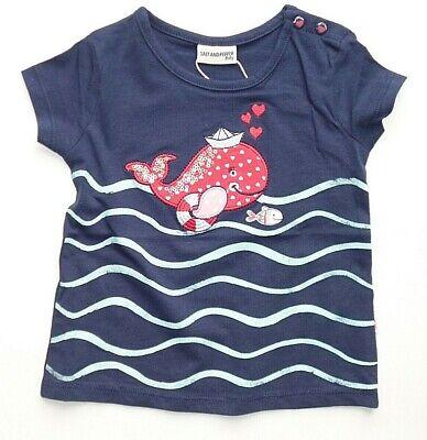 Salt and Pepper T-Shirt  Mädchen Delfin  Kleinkind Neu 74  Neu Musterkollektion