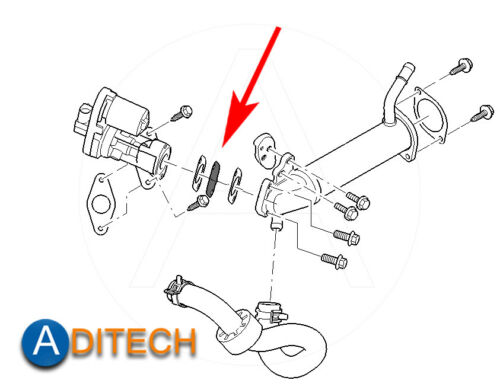 Details about  /514 EGR Valve Repair Set for Ford Transit Mondeo 2.0 2.2 2.4 TDCi Jaguar