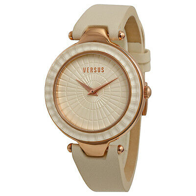 Versus by Versace Sertie Beige Dial Beige Leather Ladies Watch SQ1030013