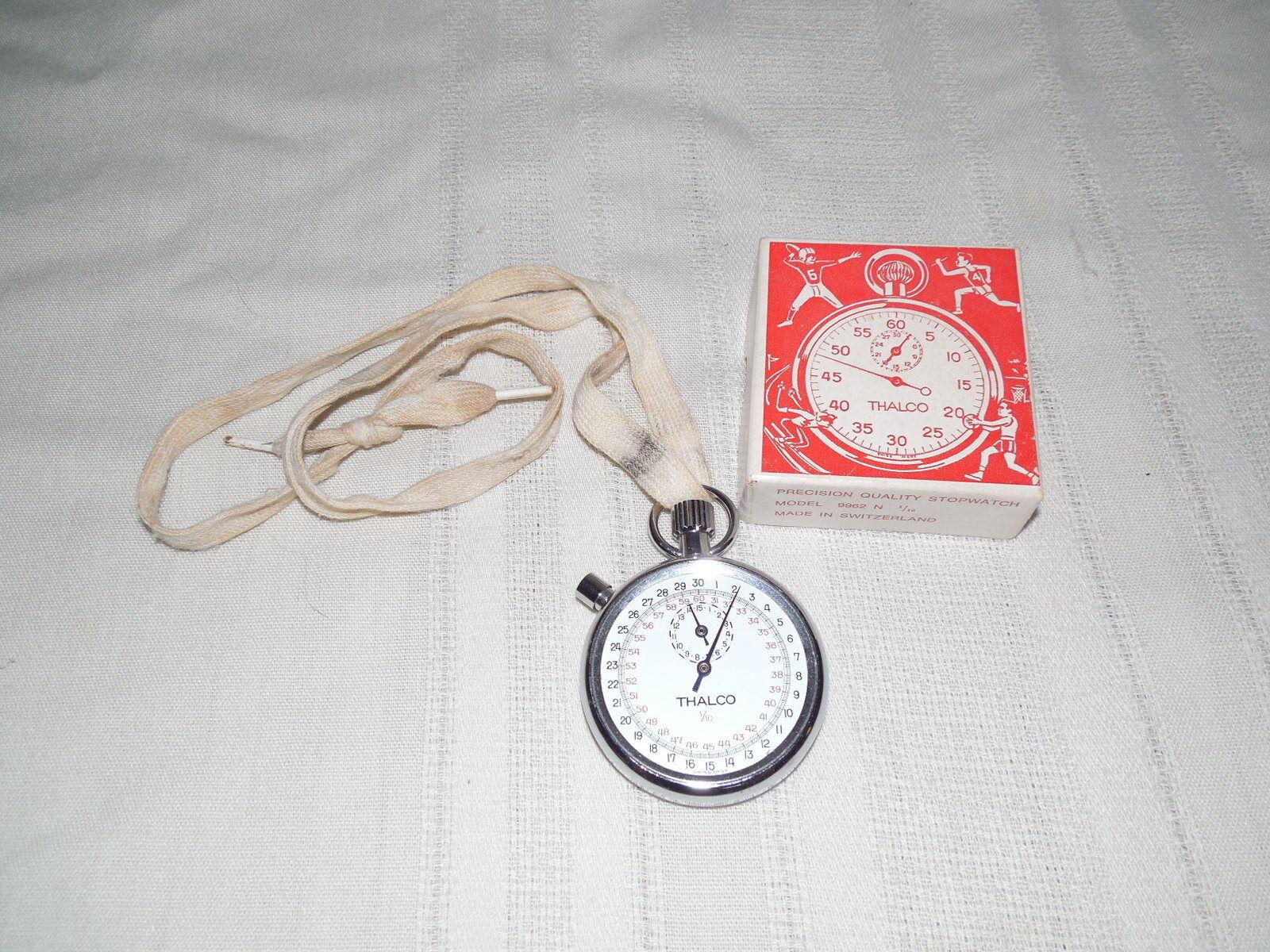 Thalco model 9962 N vintage stop watch works made in Switzerland