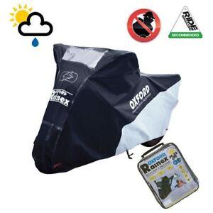 Oxford-Rainex-dust-Waterproof-Motorcycle-Motorbike-Cover-Black-All-Weather-CV502