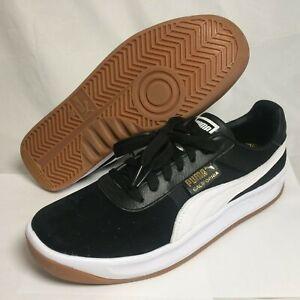 puma california men's casual shoes sneakers black white