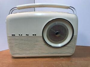 Vintage Bush Transistor Radio TR82/DL Tested Fully Working Circa 1960's