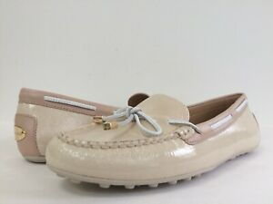 f4254282e2e New Michael Kors 9.5M Daisy Moc Ecru Soft Patent Nappa Leather Slip ...