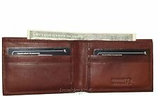 Very Thin Men's Bifold Wallet, Genuine Leather 6 Credit Card, Billfold wallet BN