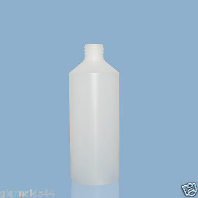 SMALL PLASTIC SQUEEZE BOTTLES 500ml x 21 STRONG HDPE CONTAINERS WITH CAPS