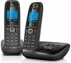 Gigaset Duo AL415A Cordless Phone with Answering Machine Twin Handsets - Black