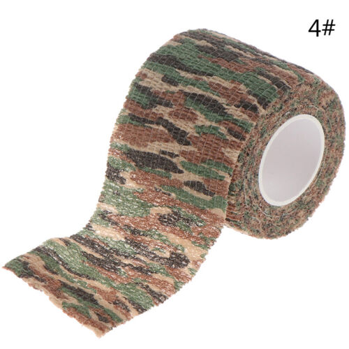 1Pc Outdoor Camo Gun Hunting Waterproof Camping Camouflage Stealth Duct Tape  .