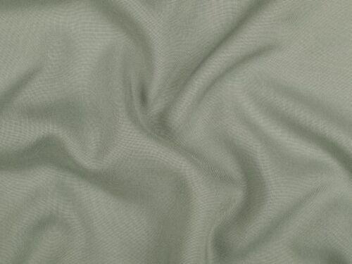 Viskose Mousseline uni graugrün 142cm